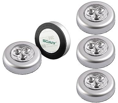 Soaiy 5er Set Stick Push Led Touch Lampe Nachtlicht Leuchten