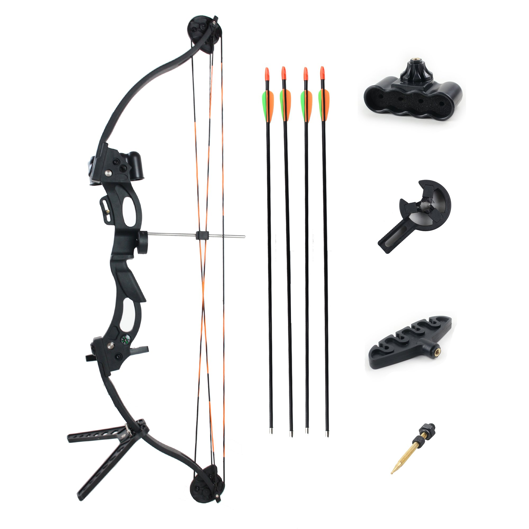 "SinoArt Youth Compound Bow 25.2""Draw 20LB - 30LB Draw Weight Right Hand Outdoor Hunting Bows&Arrows Archery Set for Teenager"
