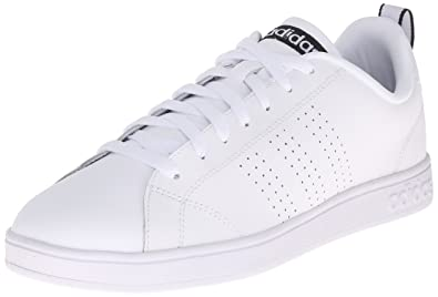 adidas Neo Women's Advantage Clean Vs W Casual Sneaker,White/White/Black,
