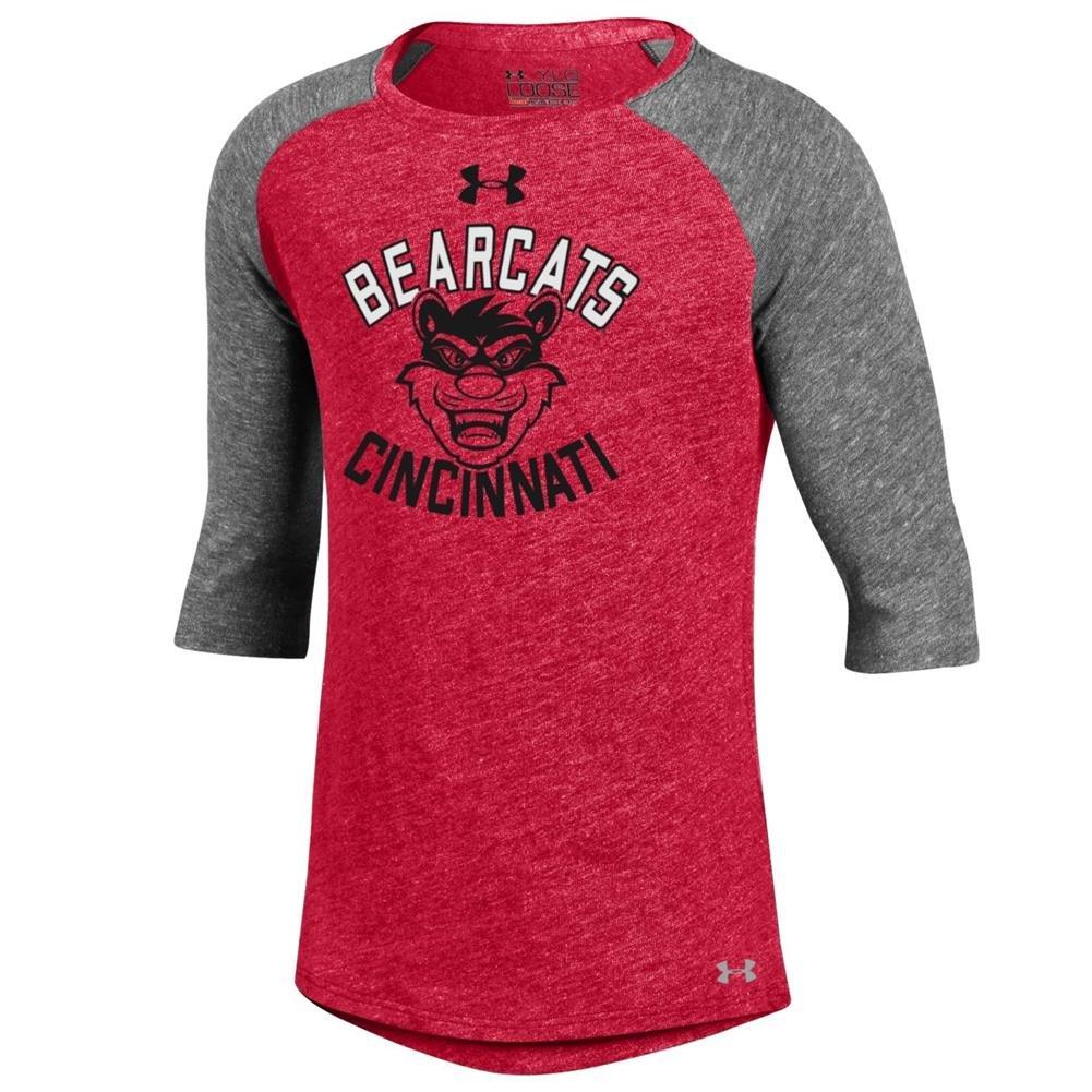 【数量限定】 Girls Under Armour Cincinnati Bearcats Baseball Tee YTH (6-6X)  B01FL9KD56, シルエット 95b7f767