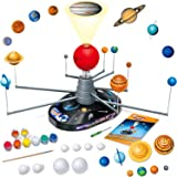 Playz Solar System Model Kit with 4 Speed Motor, HD Planetarium Projector, 8 Painted Planets, and 8 White Foam Balls with Pai
