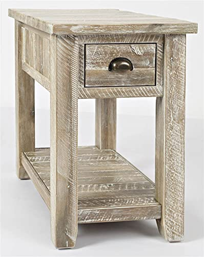 Cheap Jofran Artisan's Craft Farmhouse Solid Acacia Chairside End Table living room table for sale