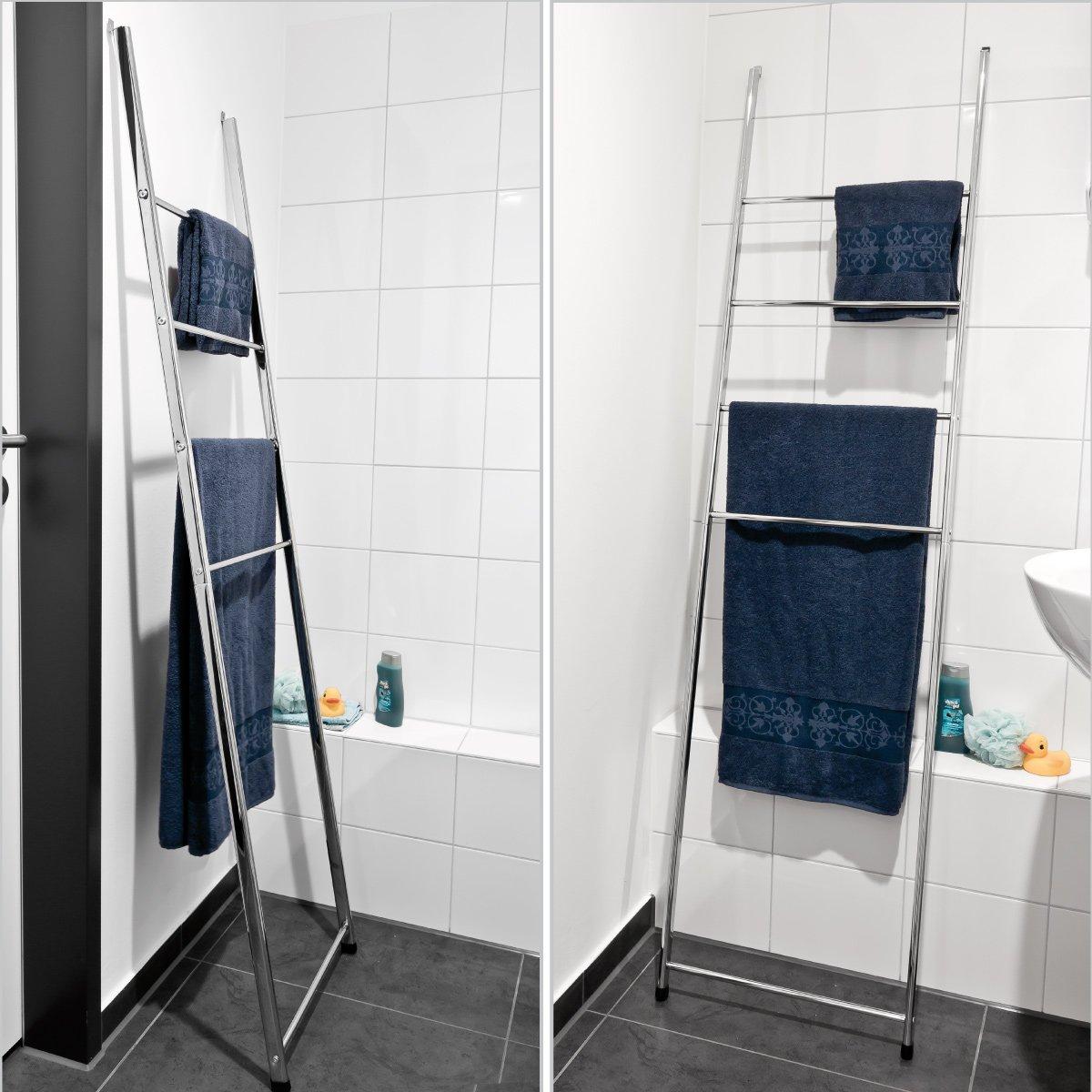 bremermann® Échelle pour serviettes, support pour serviettes avec ... - Porte Serviette Salle De Bain Design