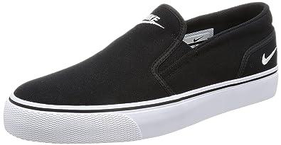 Nike Womens Toki Slip Canvas Black/White Casual Shoe 6