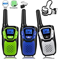 3-Pack Topsung Rechargeable Easy to Use Long Range Walkie Talkies