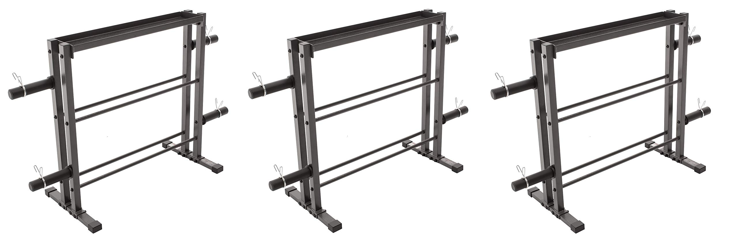 Marcy Combo Weights Storage Rack for Dumbbells, Kettlebells, and Weight Plates DBR-0117 (Pack of 3) by Marcy