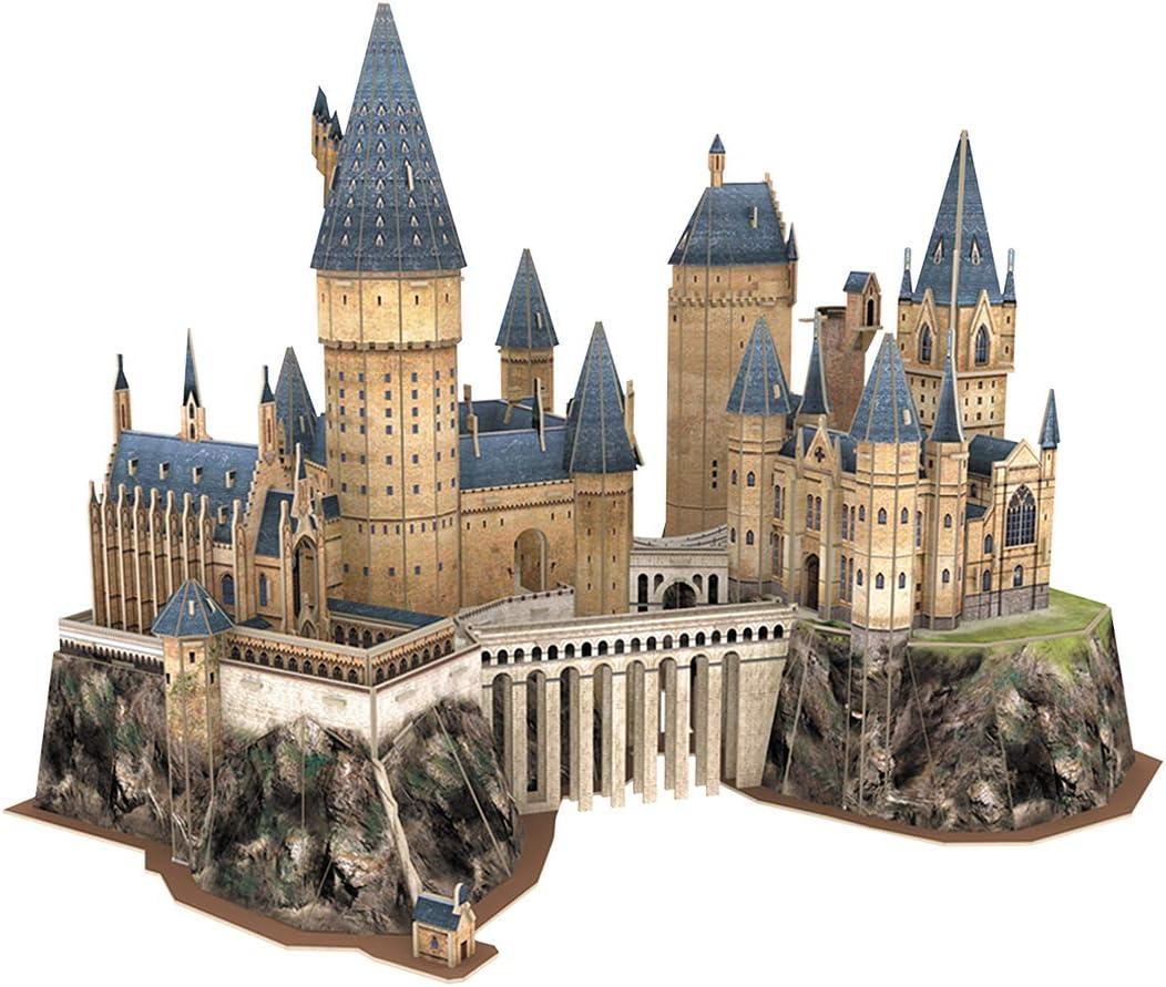 World Brands - Harry Potter - Castillo de Hogwarts Puzzles 3D, Kit de Construcción, Multicolor, DS1013H