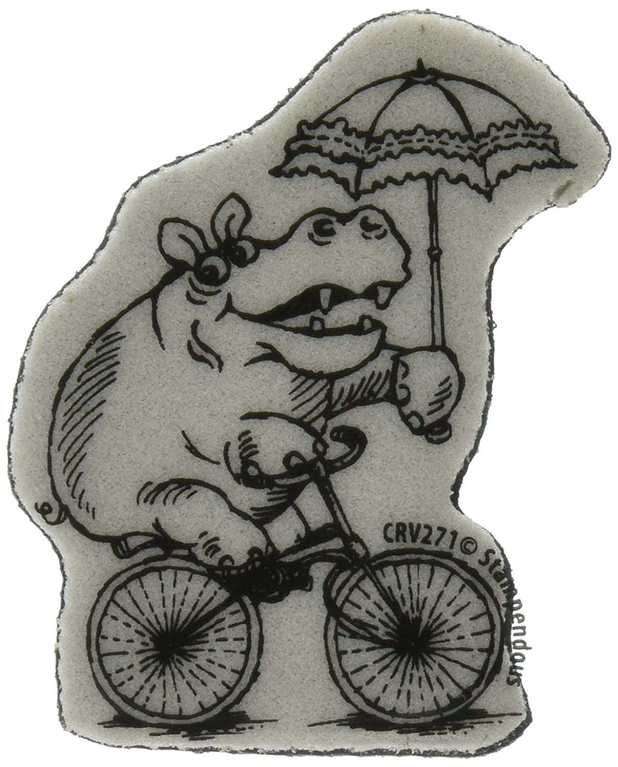 Stampendous Cling Rubber Stamp Cycle 3.5 X4  Sheet-Hippo Cycle Stamp 3ad46d