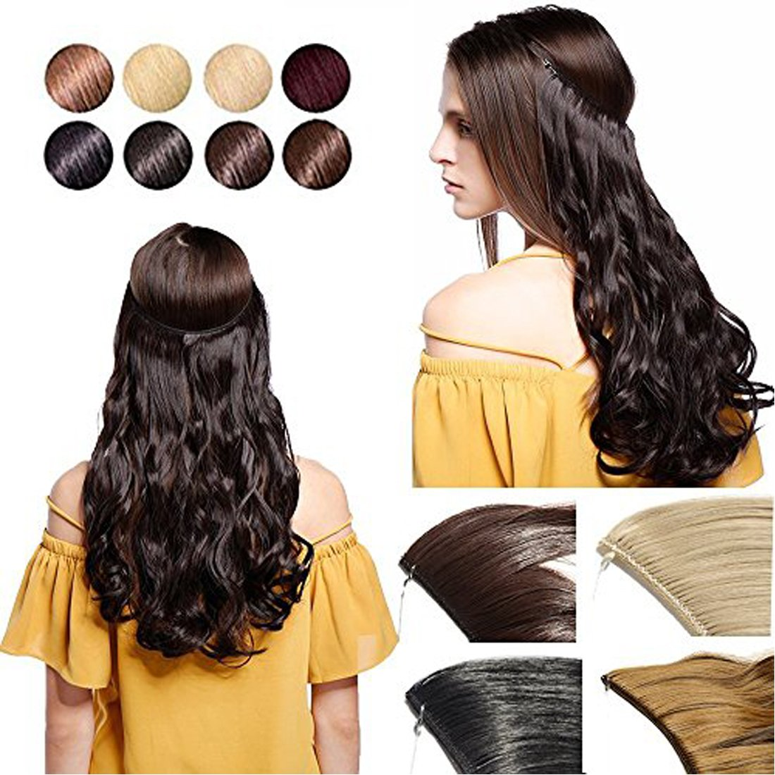 Amazon Promo 20 Curly Secret String Flip On No Clip Hair