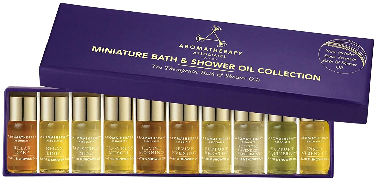 amazon com aromatherapy associates miniature bath shower oil amazon com aromatherapy associates miniature bath shower oil collection beauty