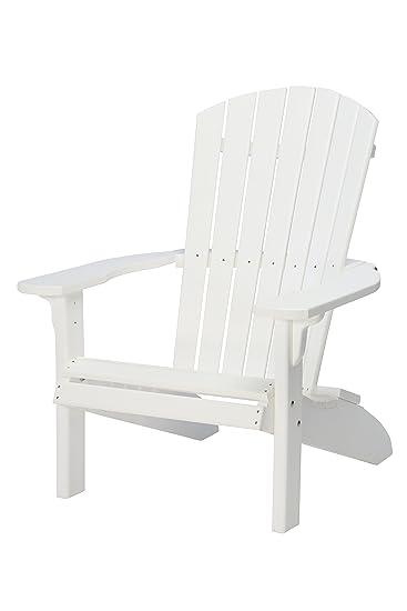 White Resin Adirondack Chairs.Amazon Com Suncast Commercial Plac3240w Adirondack Chair