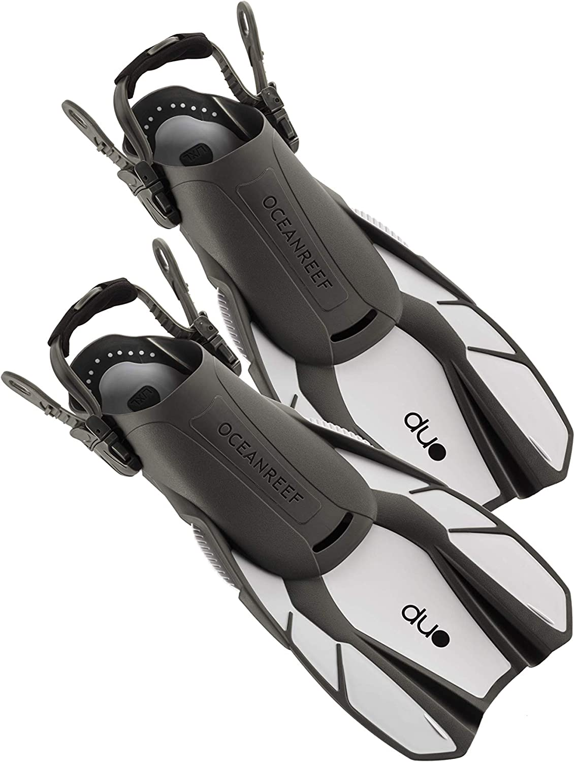 OCEAN REEF Duo Fins Fins for Snorkeling and Swimming and Low Weight for Easy Packing and Traveling