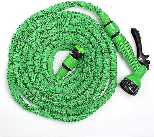 ZHX Expandible de la Manguera de jardín Tubo multifunción Pistola de Agua 6 función Pistola 3 Veces expandiendo Flexible Ligero Ducha Manguera de Agua para Lavar Coche/irrigación/Limpieza,Green,22.5M: Amazon.es: Hogar