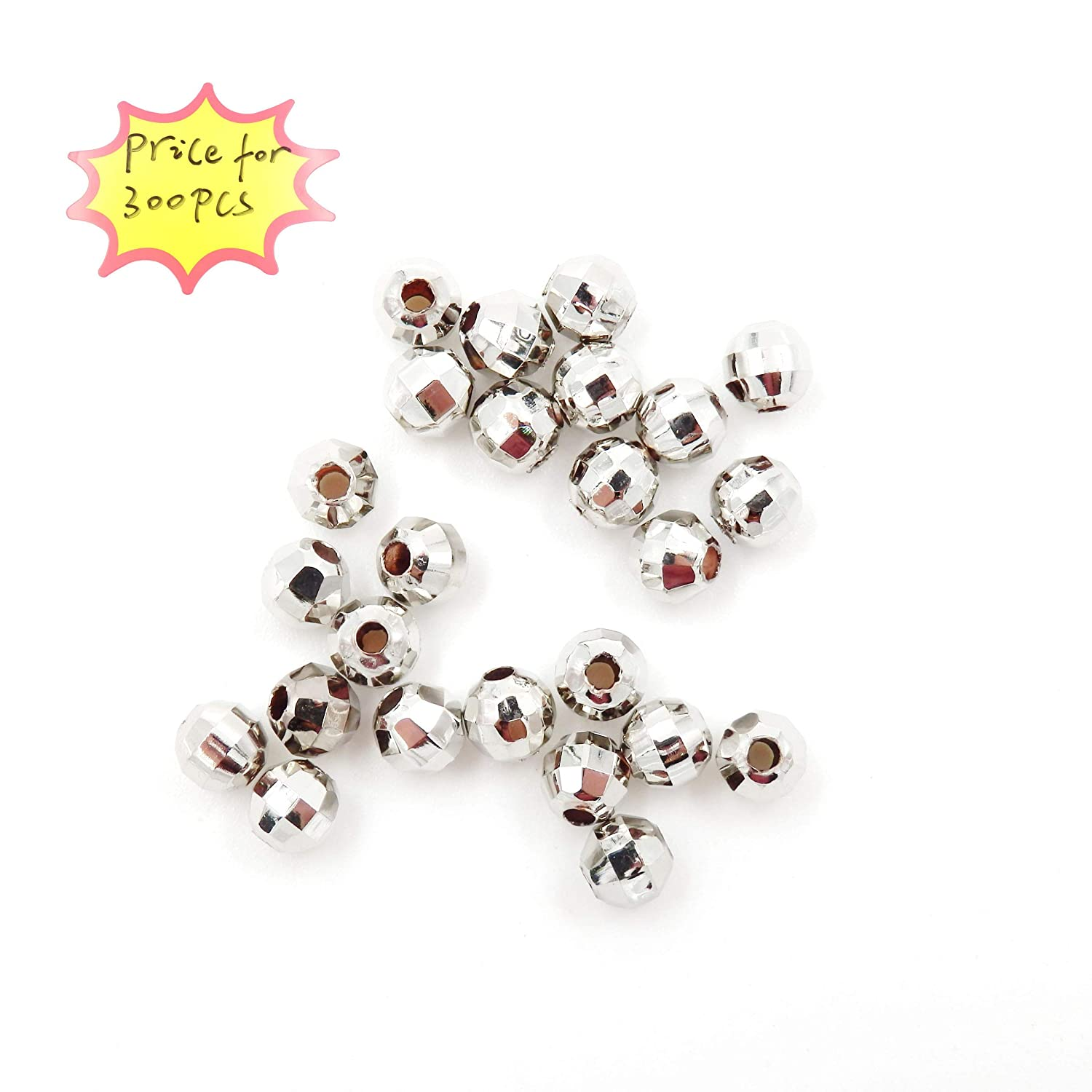 Sold per Bag 100pcs Inside Metal Beads for Jewelry Making 8mm Gold Jewelry findings