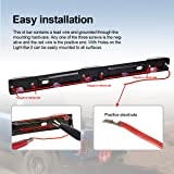 "Partsam 14"" Clear/Red 3-Lamp ID LED Light Bar"