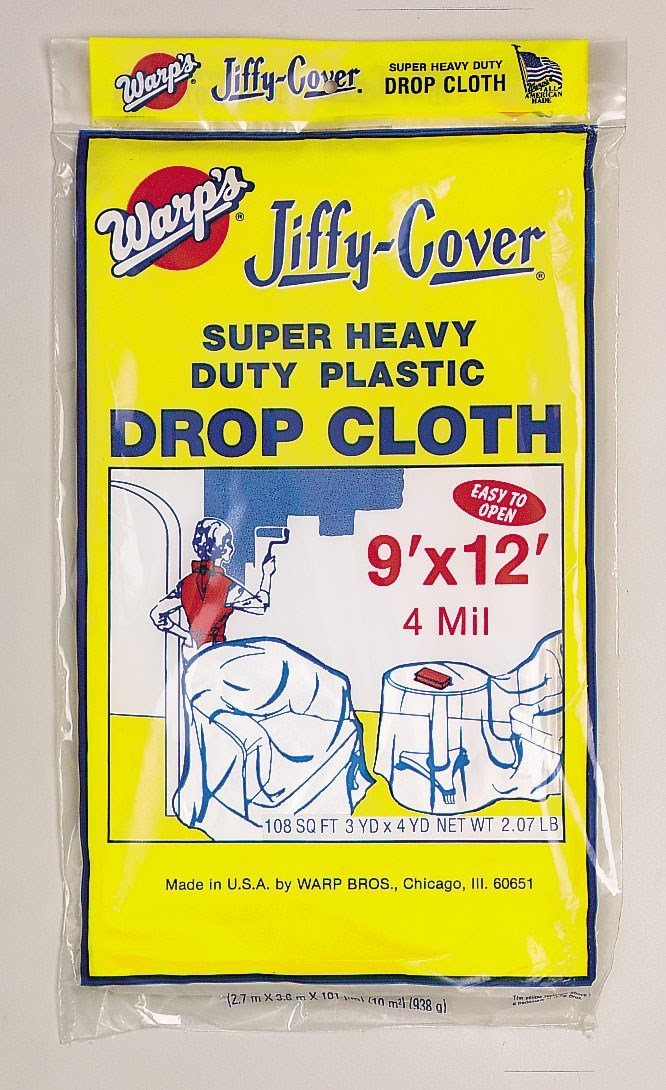 Warp Brothers 4JC-912 Jiffy Cover Super Heavy-duty Drop Cloth
