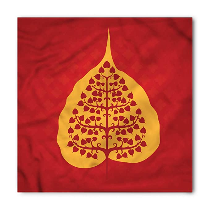 Amazon.com: Ambesonne Leaf Bandana, Artistic Bodhi Tree Yoga ...