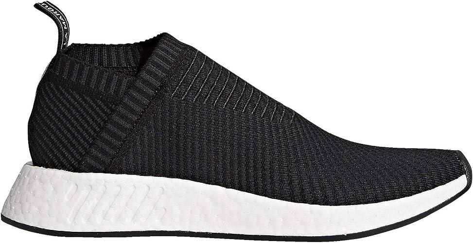 Amazon Com Adidas Men Nmd Cs2 Primeknit Black Carbon Red Solid