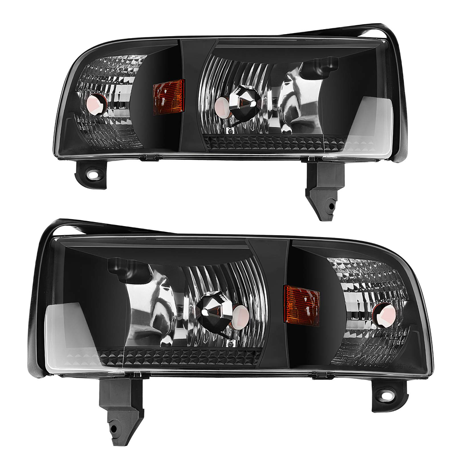 AUTOSAVER88 Headlight Assembly Compatible with 1994-2001 Dodge Ram 1500/1994-2002 Dodge Ram 2500 3500 (Projector without DRL)