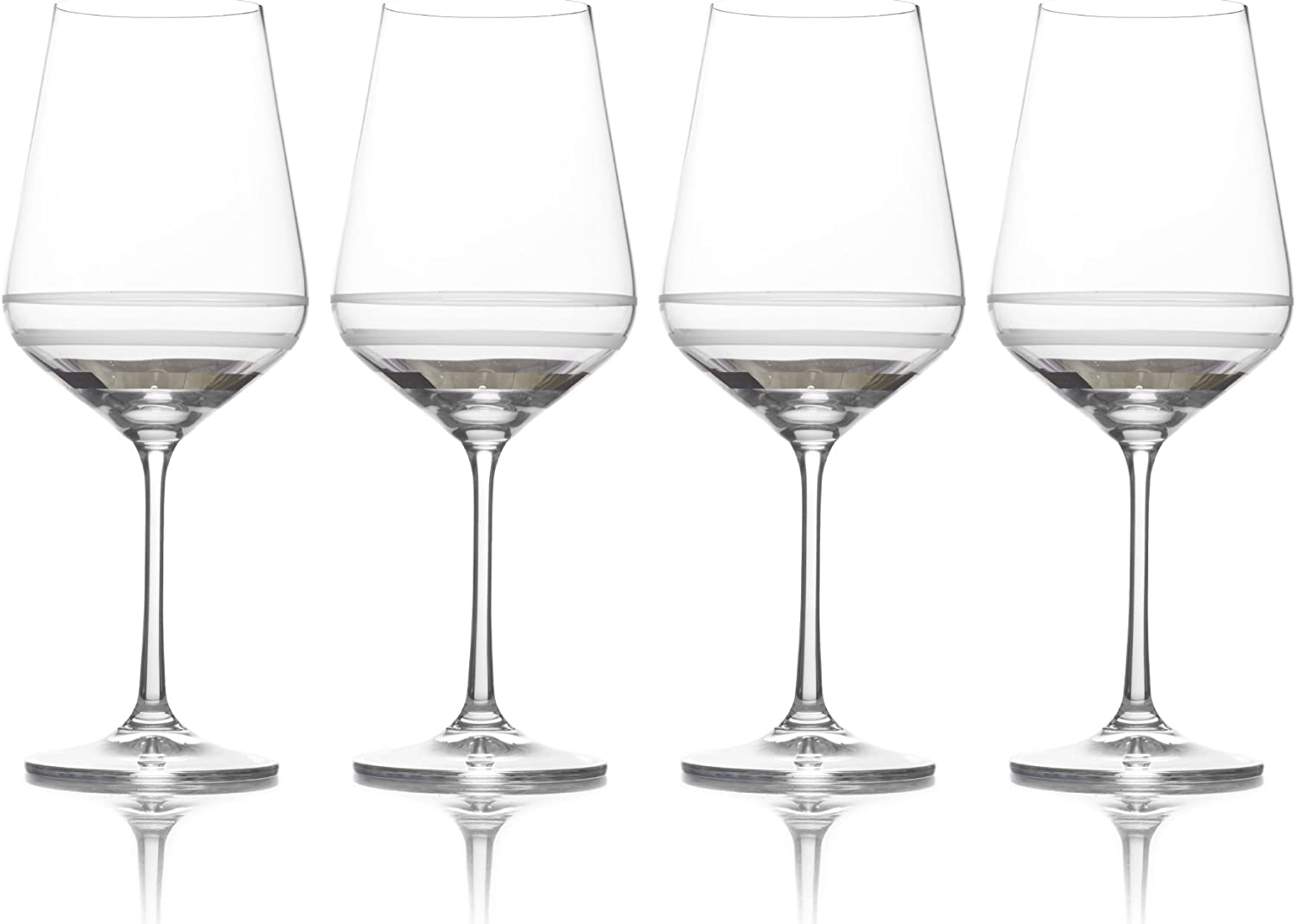 Mikasa Lux Platinum Water Goblet, 20-Ounce, Set of 4