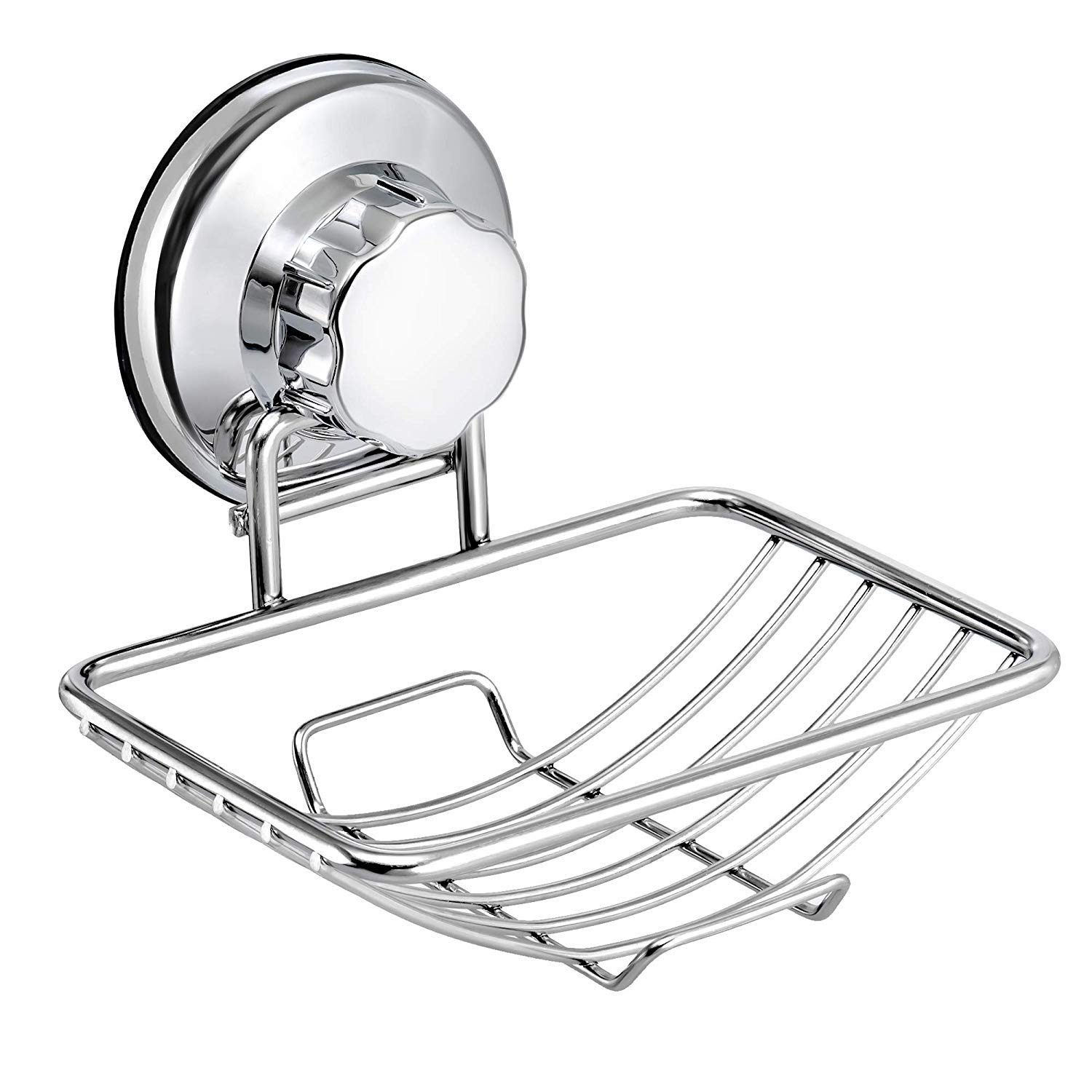 iPEGTOP Suction Soap Dish Holder, Wall Mounted Bar Soap Saver Sponges Holder, for Bathroom Kitchen Shower Tub - Rustproof Stainless Steel by iPEGTOP