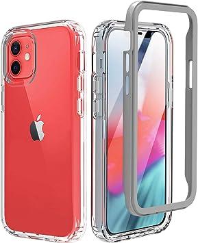 BESINPO Coque iPhone 12 Mini, Coque iphone 12 Mini Antichoc 360 Degrés Protecteur d'Ecran Intégré Anti-Rayures Robuste Coque Transparente pour iPhone ...
