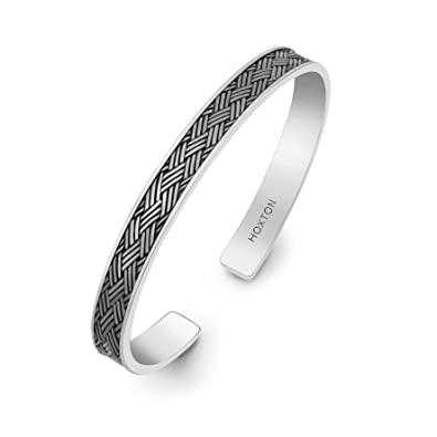 07696a474a9cd3 Hoxtons London Herren Sterling Silber Armreif: Amazon.de: Schmuck