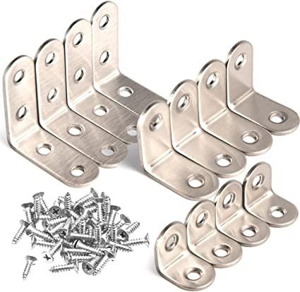4X L-shaped stainless steel bracket Best Holder 24 expanded iron Screws Best