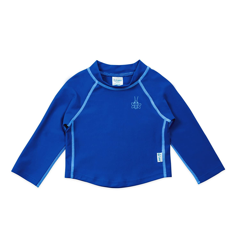 i play. 750103-675-42 - Camiseta de mangas largas, para resguardo del sol, 3-6 meses, 62 cm, color azul: Amazon.es: Bebé