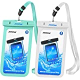 Funda Sumergible, Mpow Funda Impermeable Móvil IPX8 para Móvil Universal de 4-6 Pulgada Funda Impermeable iphone 7/6s plus, 5s, SE Samsung 7/S7 Huawei --5.5 inch-[2 Packs]