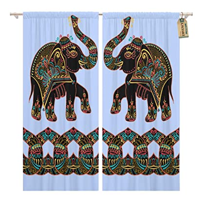 Prime Amazon Com Golee Window Curtain Exotic Ethnic Folk Indian Interior Design Ideas Inamawefileorg