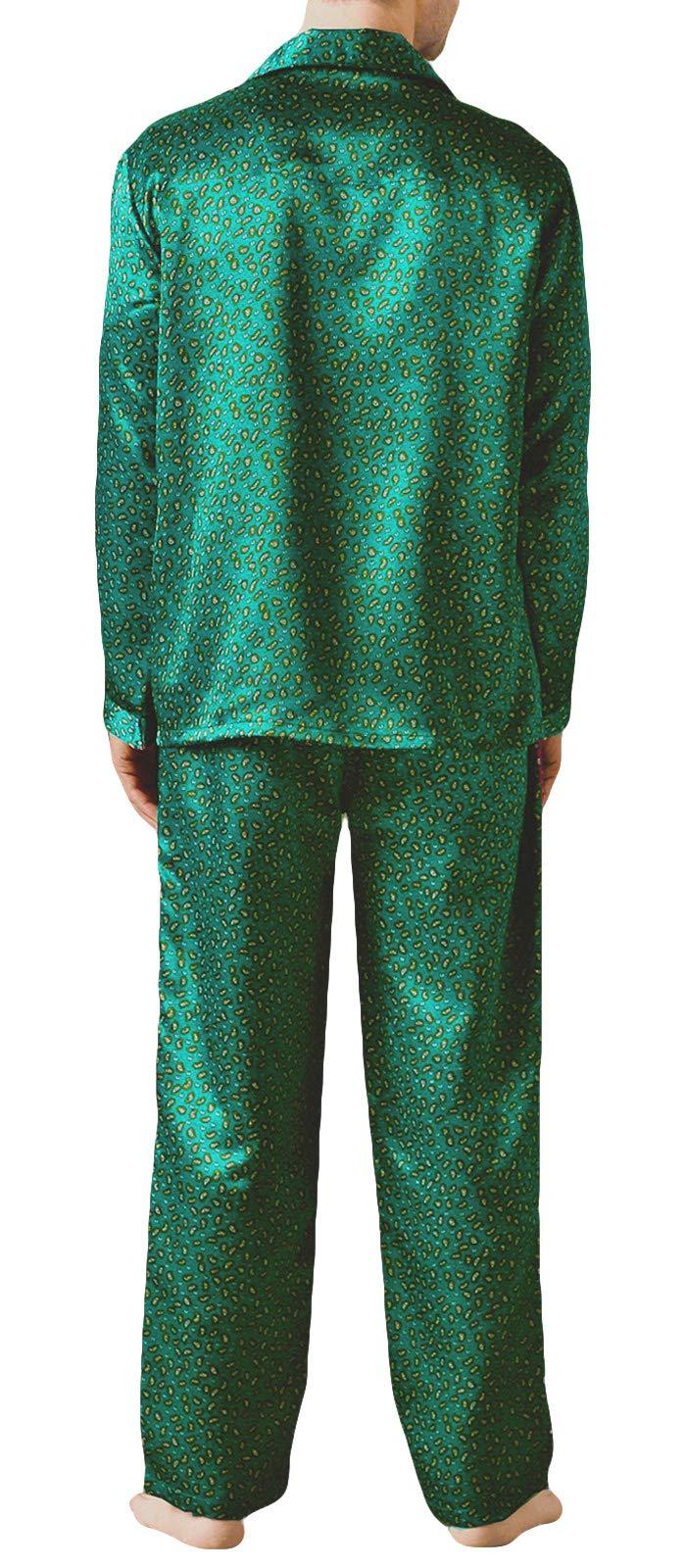 Gaffer Mens Pyjamas Set Satin Silk Nightwear Long Sleeve Top Pjs Lounge Pants Classic Sleepwear Big Sizes UK M to 3XL
