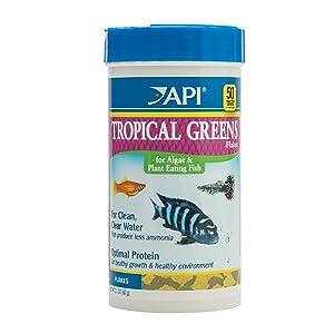 API Fish Food Flakes Tropical Greens