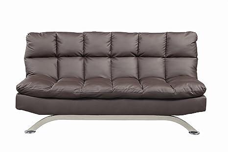Furniture of America Adelle Convertible Sofa/Futon, Dark Expresso