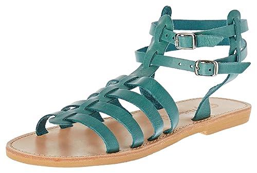 Coralie, Sandalias de Gladiador para Mujer, Marrón (Camel Camel), 36 EU Theluto