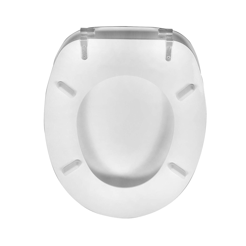 large choix de si/èges de toilette belle facile propre et forte charni/ères Si/ège de toilette rond couvercle de la housse de toilette pour salle de bain familiale anti-bact/érien