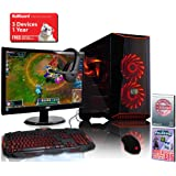 ADMI MBX-21 Gaming PC Package, Monitor, Keyboard, Mouse (AMD A10-9700 4.2GHz Quad Core CPU, Asus A320M-K, 1TB Hard Drive, 8GB DDR4 RAM, Wifi, MasterBox Case, Windows 10 + Free Rocket League Game