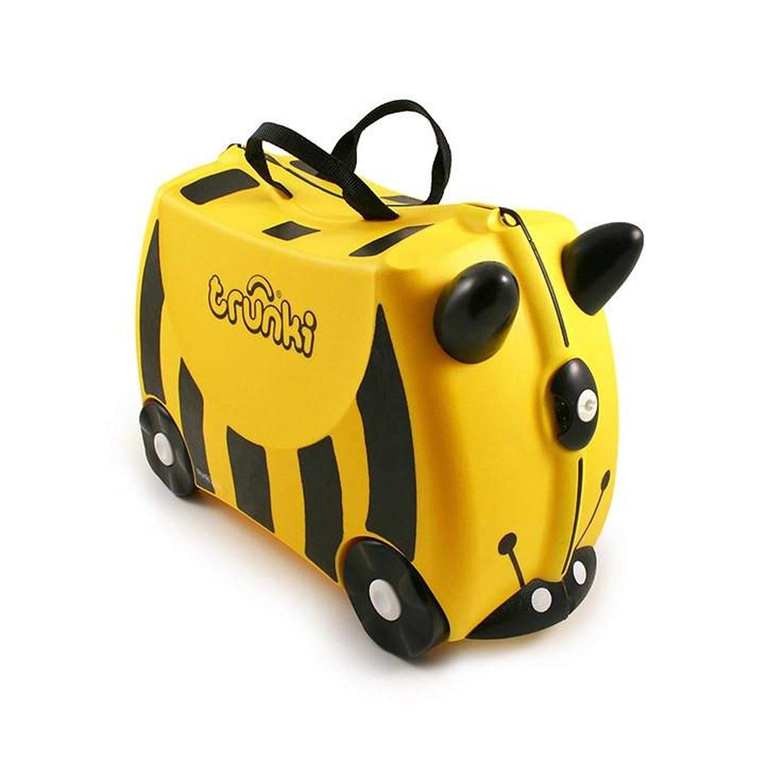 bab8912498 Amazon.com  Trunki Original Kids Ride-On Suitcase and Carry-On Luggage -  Bernard (Yellow)  Baby