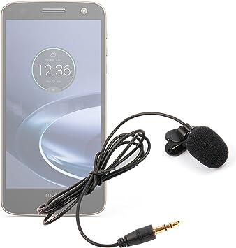 DURAGADGET Micrófono de Solapa/Clip Lavalier, omnidireccional para Smartphone Lenovo Moto E3,Moto G4 Play, Moto G4 Plus, Moto G4, Moto Z Force, Moto Z: Amazon.es: Electrónica