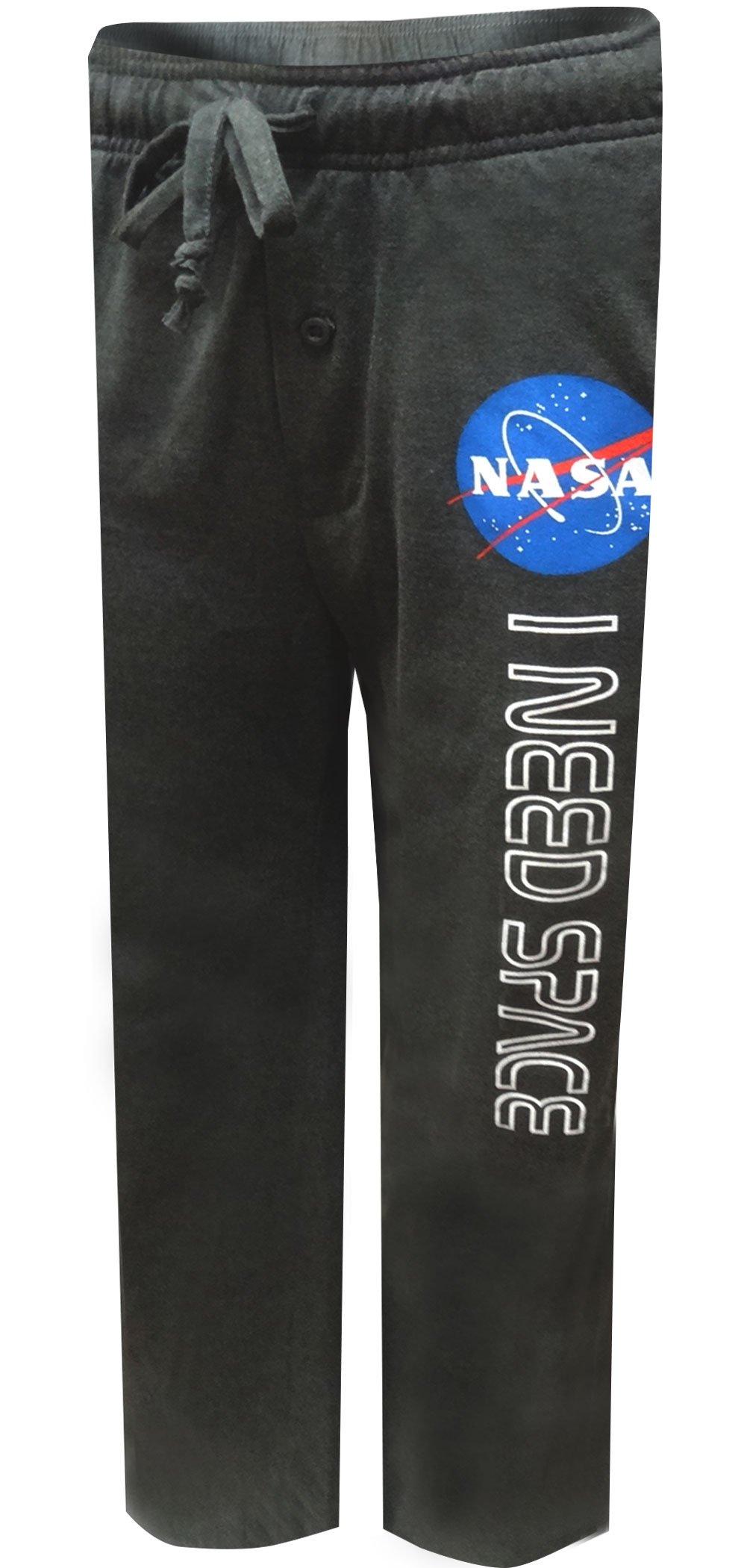 Mad Engine NASA Logo I Need Space Lounge Pants For Men (Large)