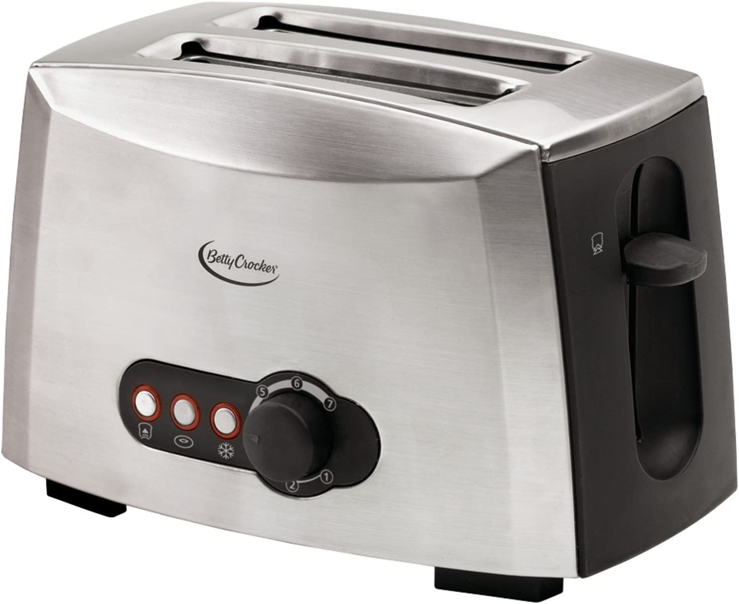 Betty Crocker BC-1618C 2-slice Toaster, Brushed Stainless Steel