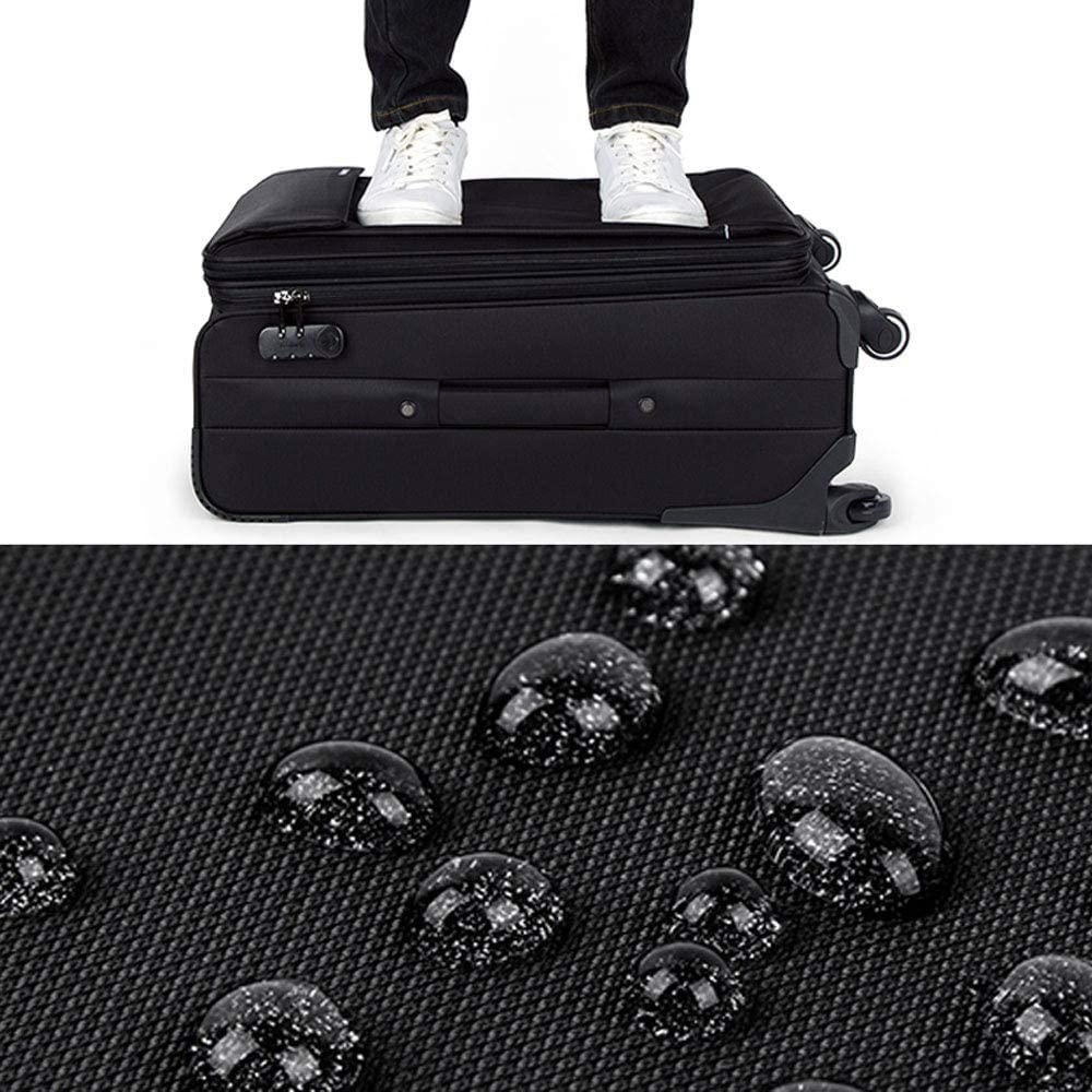 Polyester // Nylon 2 colors and 4 si stylish business large capacity password mute caster soft luggage MING REN Luggage Sets Trolley Case expandable hidden layer waterproof and scratch resistant