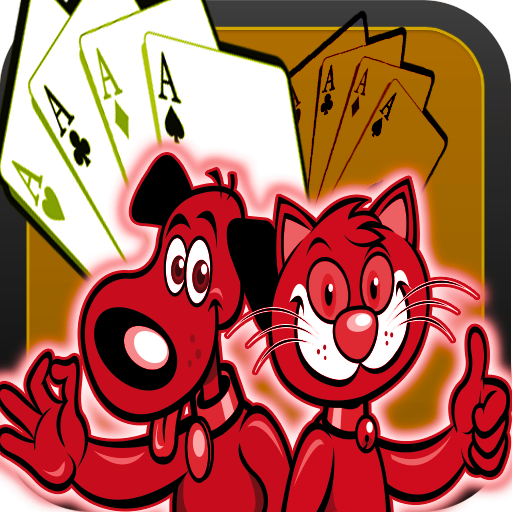Dog Poker Play (Cartoon Dog Cat Best Solitaire Game)