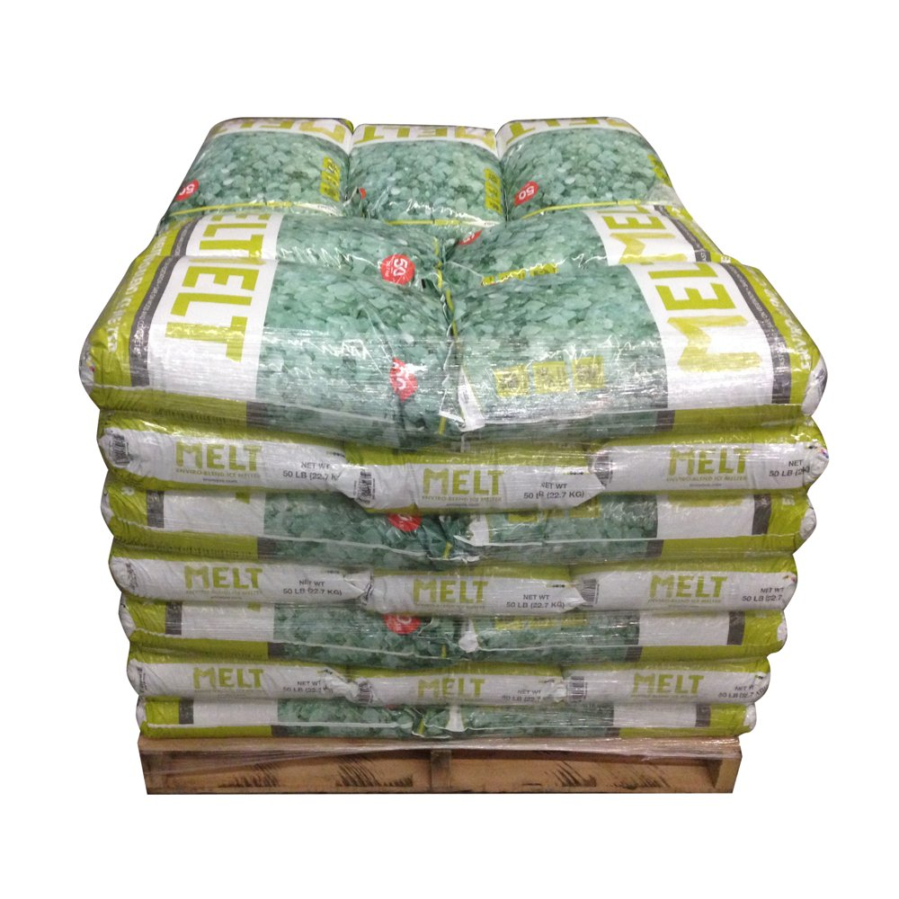 Snow Joe MELT50EB-PLT Melt 50 lb. Premium Environmentally Friendly Blend Ice Melter with CMA (Pallet of 49 Bags)