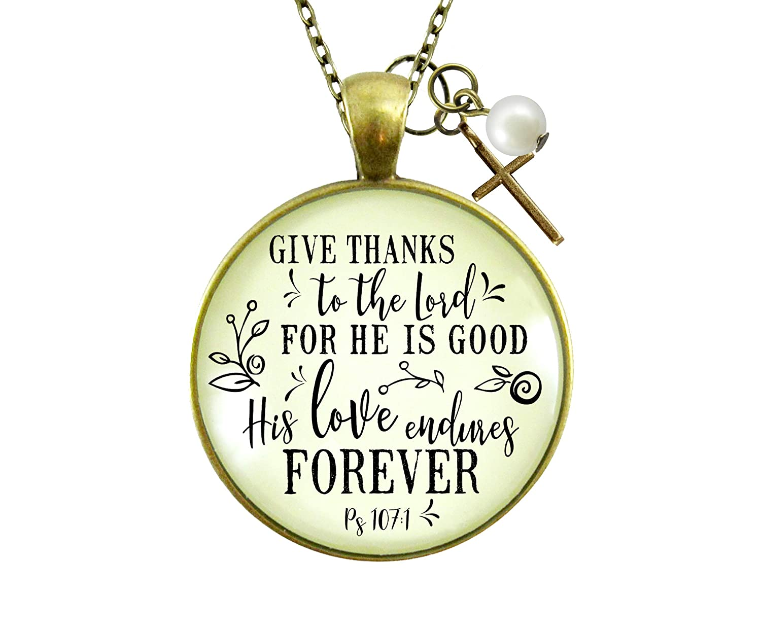 Amazon Com Gutsy Goodness 36 Give Thanks Necklace He Is Good Faith Jewelry For Women Handmade The tiki was believed to be the fist mortal created by the gods and was respected. amazon com gutsy goodness 36 give