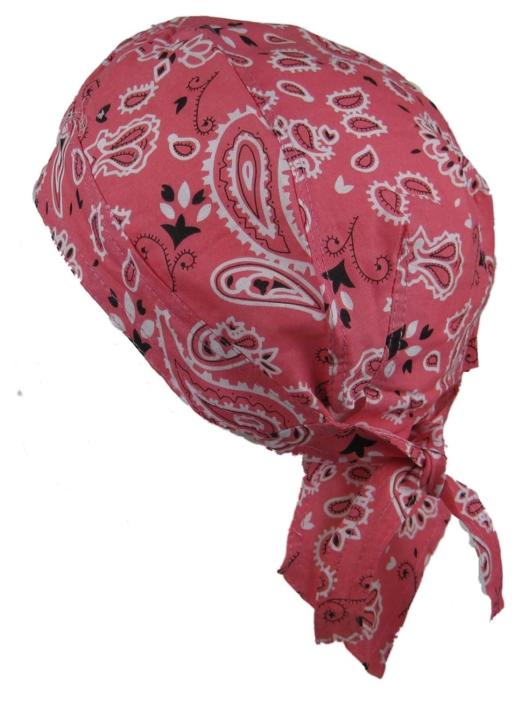 Bandana pañ uelo para la cabeza pre atada diseñ o con estampado de cachemir, color color de rosa Wendywwoo