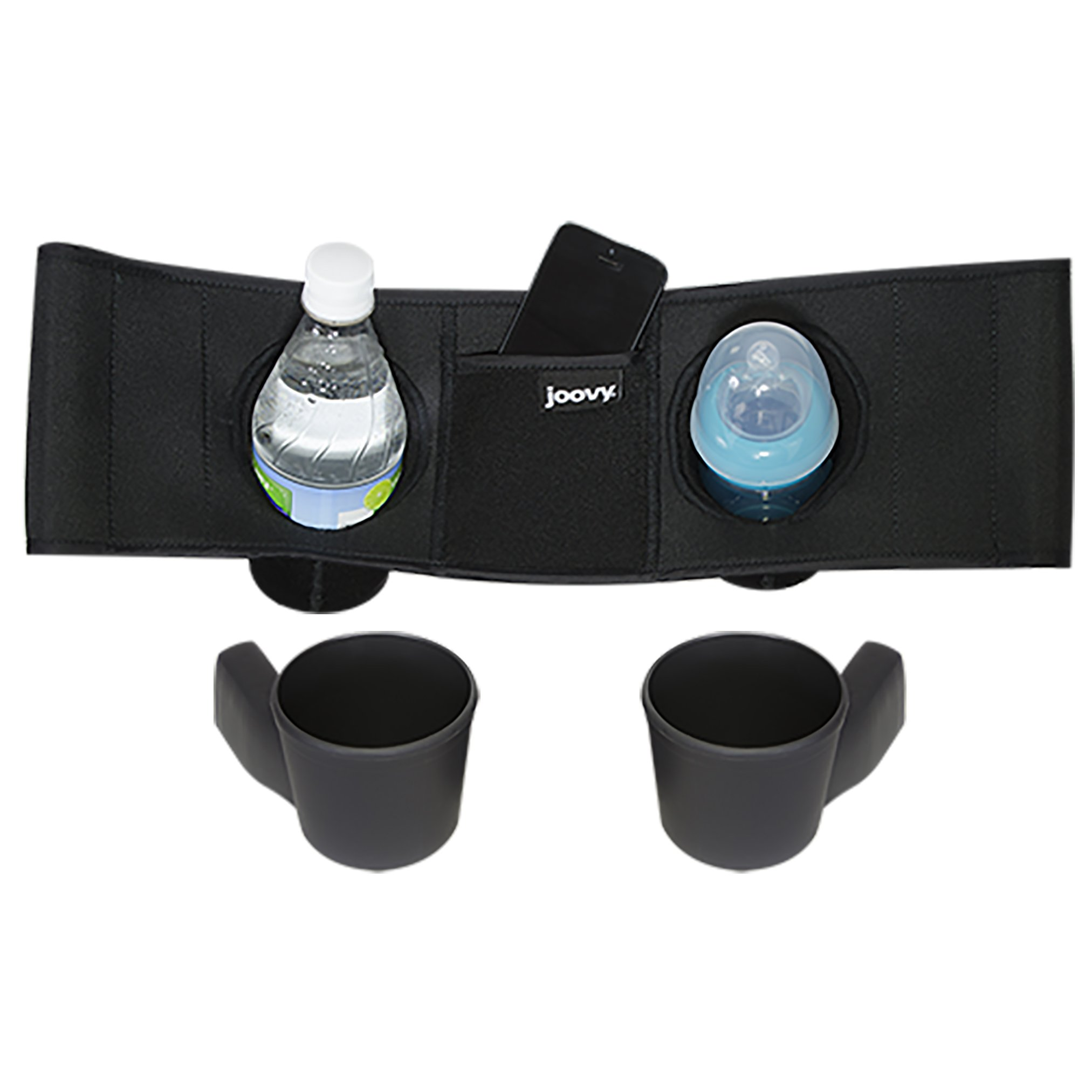 Joovy Caboose VaryLight Parent Organizer and Cup Holders, Black by Joovy (Image #1)