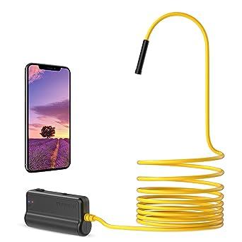 Depstech 5 0mp Hd Wireless Endoskop Mit Einer Brennweite Von 16 Zoll Und Einem 2600 Mah Akku Für Ios Smartphones Android Und Tablets 16 5ft Gewerbe Industrie Wissenschaft