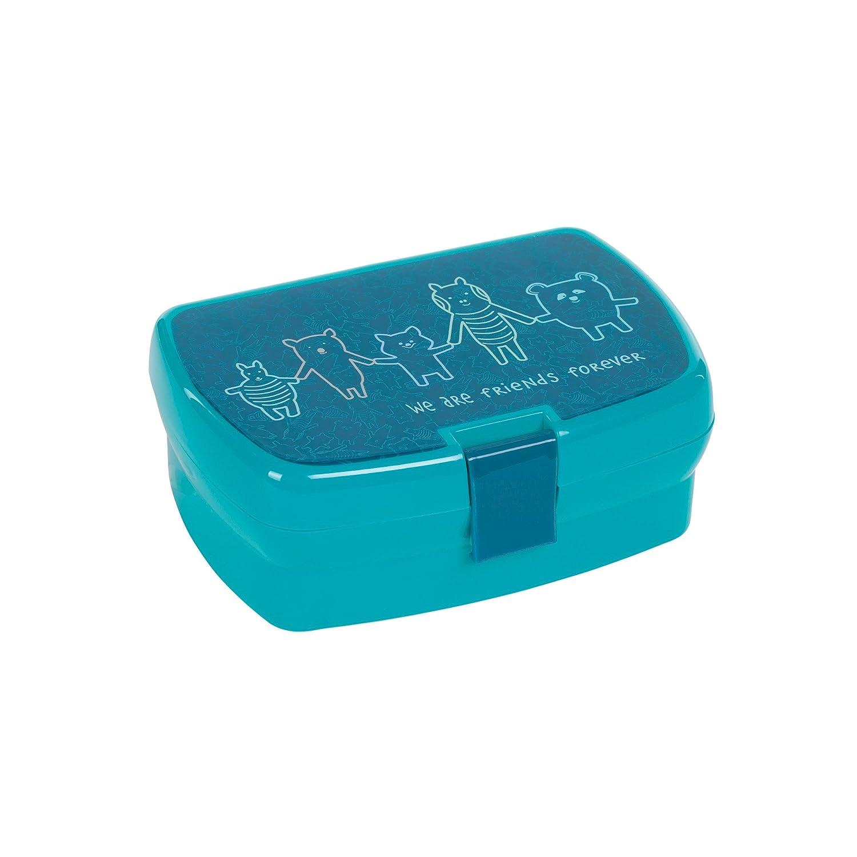 Lässig 1210002424 Lunchbox About Friends, blau Laessig GmbH