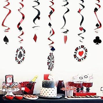Amazon Com Sunbeauty Pack Of 9 Foil Casino Swirl Hanging